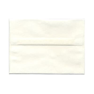 JAM Paper® A7 Invitation Envelopes, 5.25 x 7.25, Parchment White Recycled, 1000/carton (12672B)