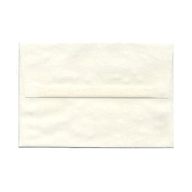 JAM Paper® A8 Invitation Envelopes, 5.5 x 8.125, Parchment White Recycled, 100/Pack (70431g)