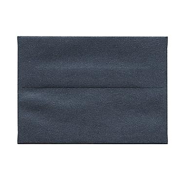 JAM PaperMD – Enveloppes Stardream format livret à effet métallisé, fermeture gommée, 3 5/8 x 5 1/8 po, noir anthracite, 50/pqt