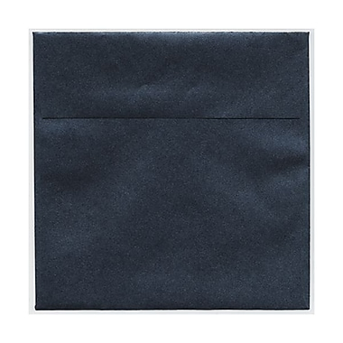 JAM Paper® 6.5 x 6.5 Square Envelopes, Stardream Metallic Anthracite Black, 50/Pack (GCST506g)