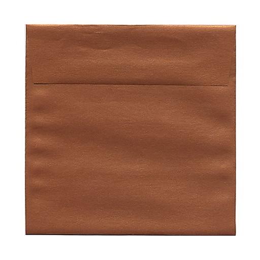 JAM Paper® 6 x 6 Square Metallic Invitation Envelopes, Stardream Copper, 25/Pack (184392)