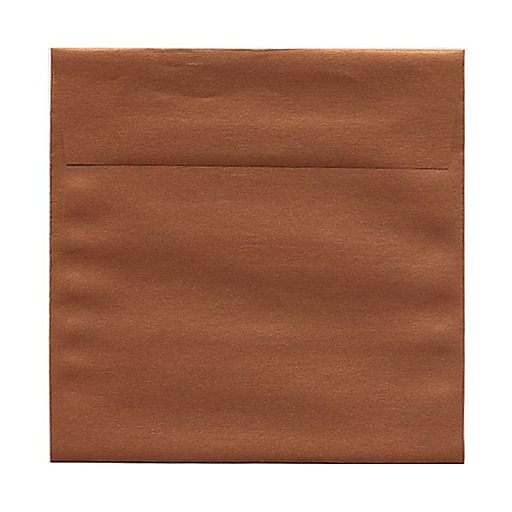 JAM Paper® 6 x 6 Square Metallic Invitation Envelopes, Stardream Copper, Bulk 1000/Carton (184392B)