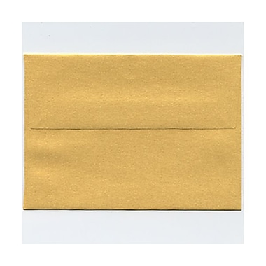 JAM Paper® 4bar A1 Envelopes, 3.63 x 5 1/8, Stardream Metallic Gold, 50/Pack (v018244g)