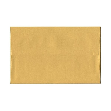 JAM PaperMD – Enveloppes livret Stardream fini métallique avec fermeture gommée, 6 x 9 1/2 po, doré, 50/pqt