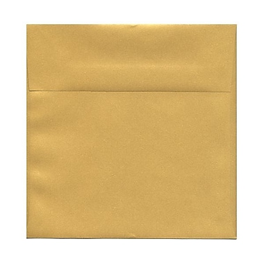 JAM Paper 8.5 x 8.5 Square Envelopes, Stardream Metallic Gold, 50/Pack (v018319g)
