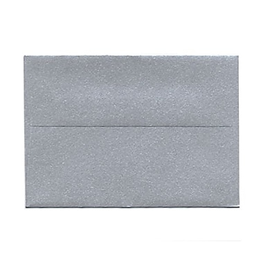 JAM Paper 4bar A1 Envelopes, 3.63 x 5 1/8, Stardream Metallic Silver, 50/Pack (v018243g)