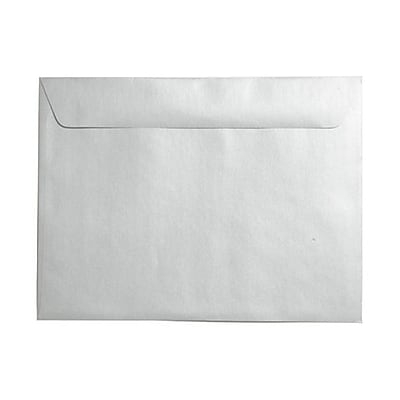 JAM Paper® 9 x 12 Booklet Envelopes, Stardream Metallic Silver, 25/pack (85818)