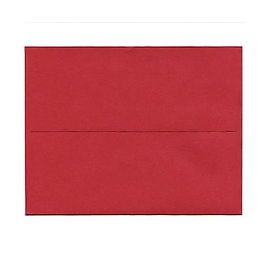 JAM PaperMD – Enveloppes livret Stardream fini métallique à fermeture gommée, 4 3/8 x 5 3/4 po, rouge Jupiter, paquet de 50