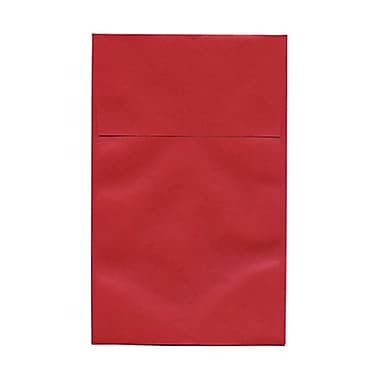 JAM Paper® A10 Policy Envelopes, 6 x 9.5, Stardream Metallic Jupiter Red, 50/Pack (v018306g)