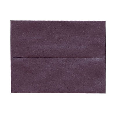 JAM Paper® A2 Invitation Envelopes, 4 3/8 x 5 3/4, Stardream Metallic Ruby Purple, 25/pack (GCST604)