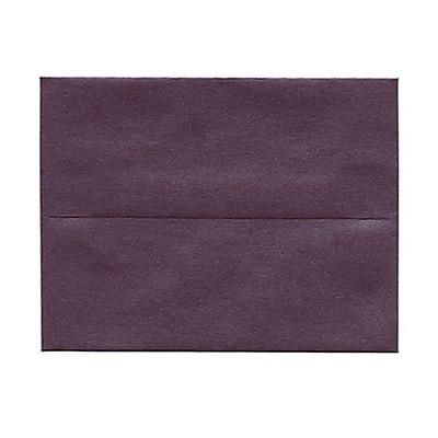 JAM Paper® A2 Invitation Envelopes, 4 3/8 x 5 3/4, Stardream Metallic Ruby Purple, 1000/carton (GCST604B)