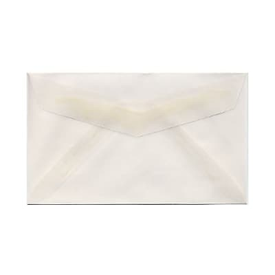 JAM Paper® 2Pay Mini Small Envelopes, 2.5 x 4.25, Clear Translucent Vellum, 25/pack (900767740)
