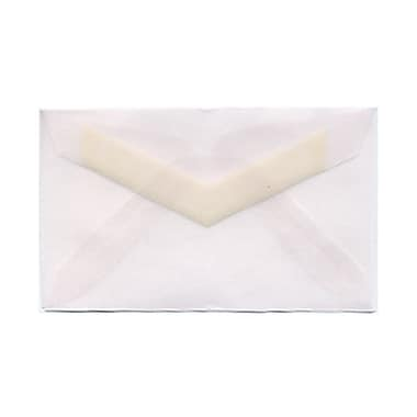 JAM Paper® 3drug Mini Small Envelopes, 2 5/16 x 3.63, Clear Translucent Vellum, 1000/Pack (LECV900B)