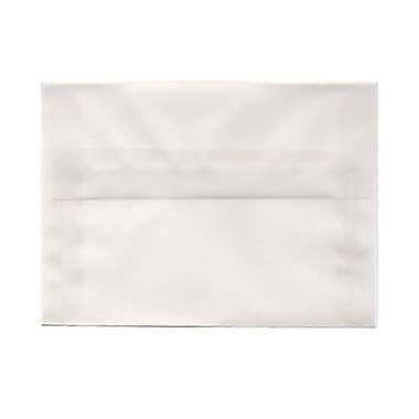 JAM Paper® A6 Invitation Envelopes, 4.75 x 6.5, Clear Translucent Vellum, 100/Pack (13756g)