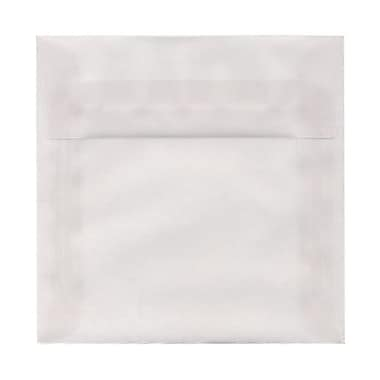 JAM Paper® 6.5 x 6.5 Square Envelopes, Clear Translucent Vellum, 100/Pack (82516g)