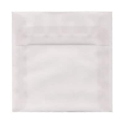 JAM Paper® 7 x 7 Square Envelopes, Clear Translucent Vellum, 1000/carton (2851340B)