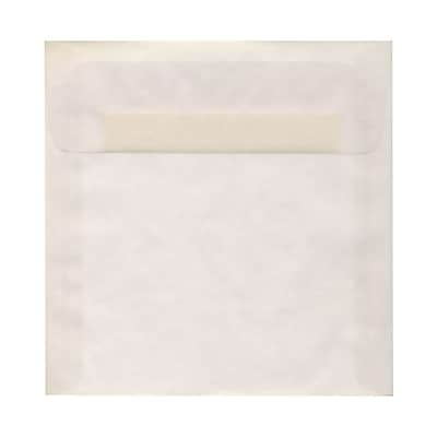 JAM Paper® 8 x 8 Square Envelopes, Clear Translucent Vellum, 25/pack (51287)