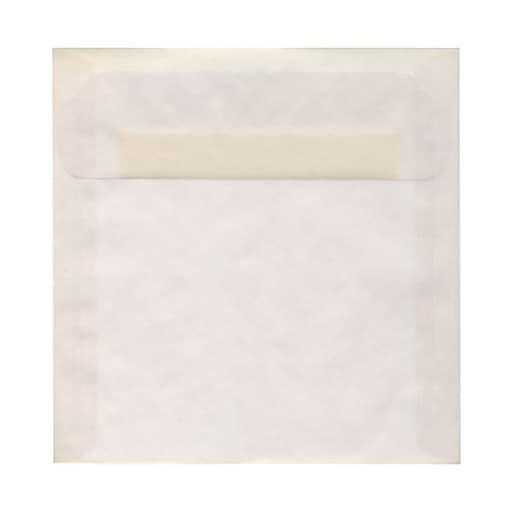 JAM Paper® 8.5 x 8.5 Square Translucent Vellum Invitation Envelopes, Clear, Bulk 1000/Carton (GTGN530B)