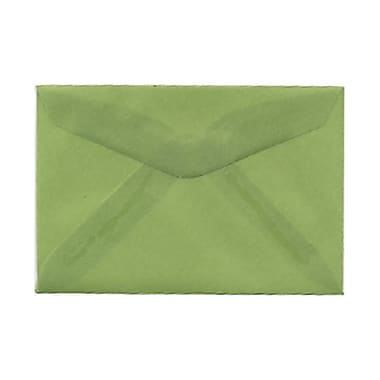 JAM Paper® 3drug Mini Small Envelopes, 2 5/16 x 3.63, Leaf Green Translucent Vellum, 1000/Pack (1591587B)