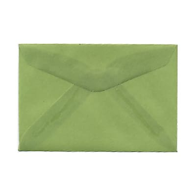 JAM Paper® 3drug Mini Small Envelopes, 2 5/16 x 3 5/8, Leaf Green Translucent Vellum, 25/pack (1591587)