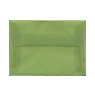 JAM Paper® 4bar A1 Envelopes, 3 5/8 x 5 1/8, Leaf Green Translucent Vellum, 25/pack (1591611)