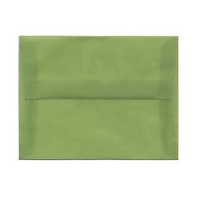 JAM Paper® A2 Invitation Envelopes, 4 3/8 x 5 3/4, Leaf Green Translucent Vellum, 25/pack (PACV603)
