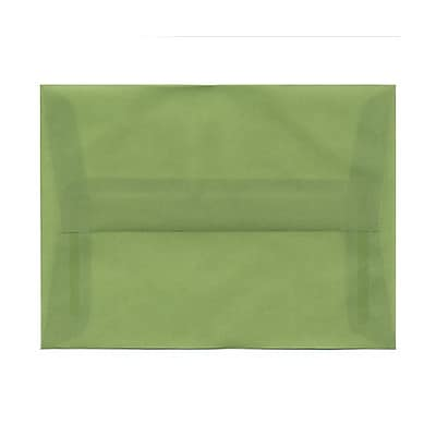 JAM Paper® A6 Invitation Envelopes, 4.75 x 6.5, Leaf Green Translucent Vellum, 25/pack (PACV653)