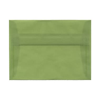 JAM Paper® A7 Invitation Envelopes, 5.25 x 7.25, Leaf Green Translucent Vellum, 100/Pack (PACV703g)