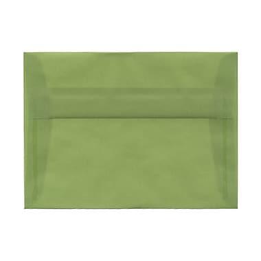 JAM PaperMD – Enveloppes livrets en vélin translucide avec fermeture gommée, 5 1/4 x 7 1/4 po, vert feuille, 1000 par paquet