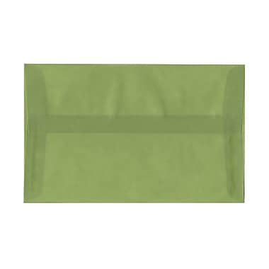 JAM Paper® A10 Invitation Envelopes, 6 x 9.5, Leaf Green Translucent Vellum, 100/Pack (PACV853g)
