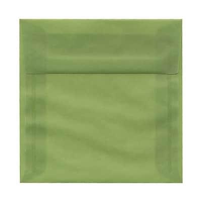 JAM Paper® 6 x 6 Square Envelopes, Leaf Green Translucent Vellum, 25/pack (PACV513)