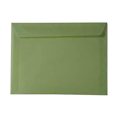 JAM Paper® 9 x 12 Booklet Envelopes, Translucent Vellum Leaf Green, 25/pack (1592178)