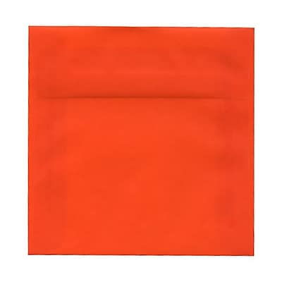 JAM Paper® 6 x 6 Square Envelopes, Orange Translucent Vellum, 25/pack (1591933)