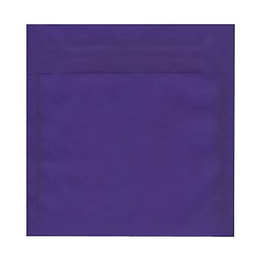 JAM Paper® 8.5 x 8.5 Square Envelopes, Purple Translucent Vellum, 100/Pack (1592167g)