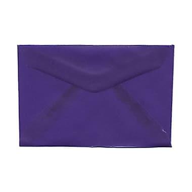 JAM Paper® 3drug Mini Small Envelopes, 2 5/16 x 3.63, Purple Translucent Vellum, 1000/Pack (1591588B)