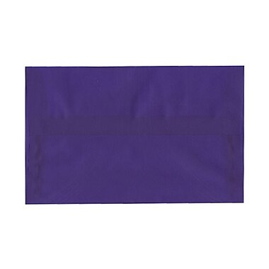 JAM Paper® A10 Invitation Envelopes, 6 x 9.5, Purple Translucent Vellum, 100/Pack (PACV857g)