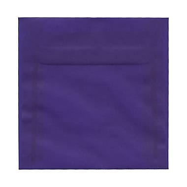 JAM Paper® 5.5 x 5.5 Square Envelopes, Purple Translucent Vellum, 100/Pack (PACV507g)