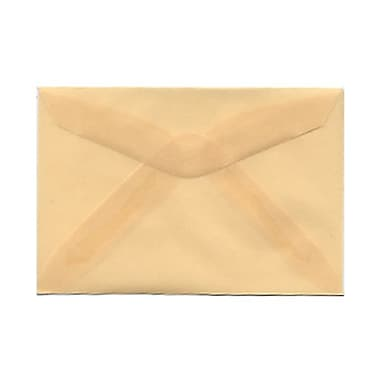 JAM Paper® 3drug Mini Small Envelopes, 2 5/16 x 3.63, Spring Ochre Ivory Translucent Vellum, 1000/Pack (1591586B)