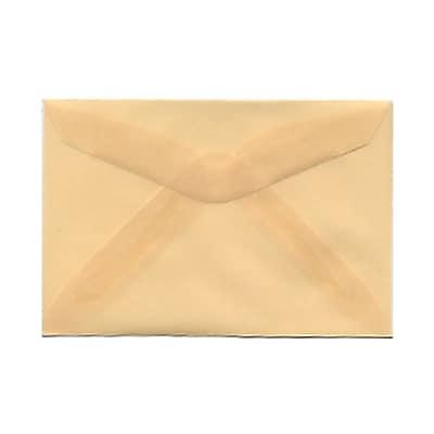 JAM Paper® 3drug Mini Small Envelopes, 2 5/16 x 3 5/8, Spring Ochre Ivory Translucent Vellum, 25/pack (1591586)