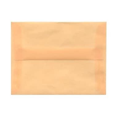 JAM PaperMD – Enveloppes livret à fermeture gommée, papier vélin translucide, 4 3/8 x 5 3/4 po, ivoire ocre printemps, 100/pqt