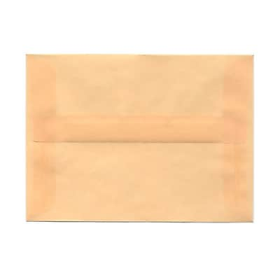 JAM Paper® A6 Invitation Envelopes, 4.75 x 6.5, Spring Ochre Ivory Translucent Vellum, 25/pack (PACV650)