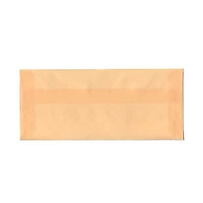 JAM Paper® #10 Business Envelopes, 4 1/8 x 9 1/2, Spring Ochre Ivory Translucent Vellum, 25/pack (PACV350)