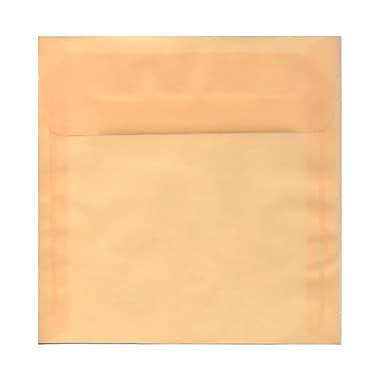 JAM PaperMD – Enveloppes carrées en vélin translucide avec fermeture gommée, 8 1/2 x 8 1/2 po, ivoire, 1000/pqt