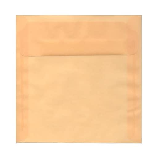 jam paper 8 5 x 8 5 square envelopes spring ochre ivory