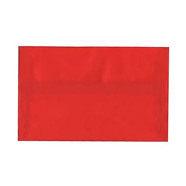 JAM Paper® A10 Invitation Envelopes, 6 x 9.5, Red Translucent Vellum, 100/Pack (PACV855g)