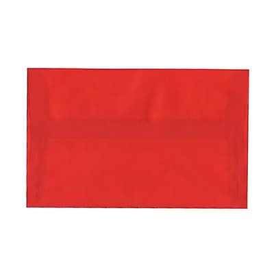 JAM Paper® A10 Invitation Envelopes, 6 x 9.5, Red Translucent Vellum, 25/pack (PACV855)