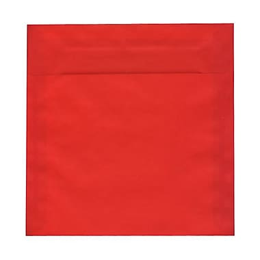 JAM Paper® 8.5 x 8.5 Square Envelopes, Red Translucent Vellum, 1000/Pack (1592165B)
