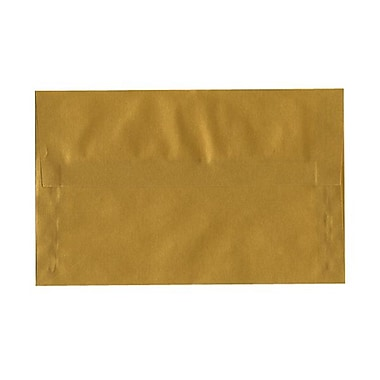 JAM Paper® A10 Invitation Envelopes, 6 x 9.5, Gold Translucent Vellum, 100/Pack (PACV867g)