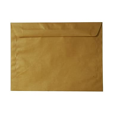 JAM Paper® 9 x 12 Booklet Envelopes, Translucent Vellum Gold, 100/Pack (1592176g)
