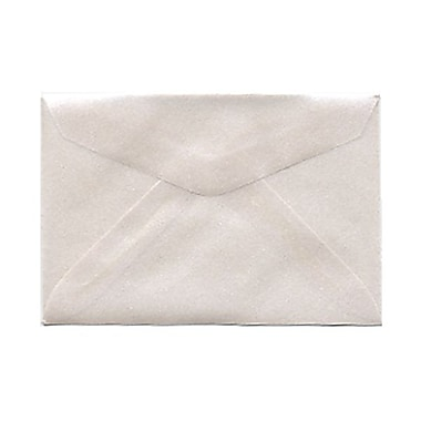 JAM Paper® 3drug Mini Small Envelopes, 2 5/16 x 3.63, Platinum Translucent Vellum, 1000/Pack (1591564B)
